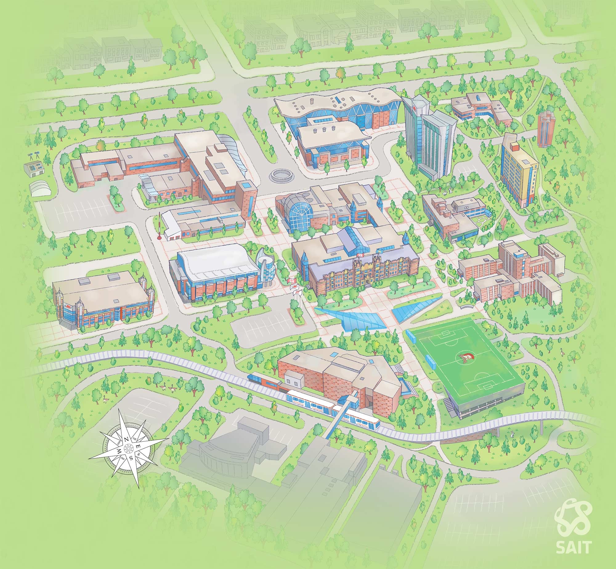 John Carroll University Campus Map.Virtual Tour Of Sait Southern Alberta Institute Of Technology